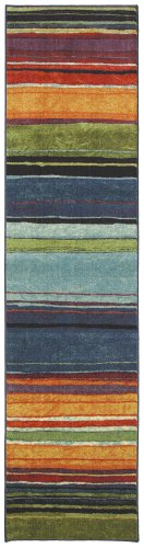 Mohawk Home New Wave Rainbow Printed Rug, 2'x8', Multi