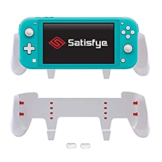 Satisfye - ZenGrip Go (Lite), Accessories Compatible with Nintendo Switch Lite - Comfortable & Ergonomic Grip, Joy Con & Switch Control. #1 Switch Accessories for Gamers BONUS: 2 Thumbsticks