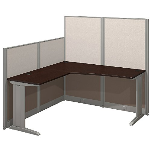 - Bush Business Furniture Office in an Hour 65W x 65D L Shaped Cubicle Workstation in Mocha Cherry