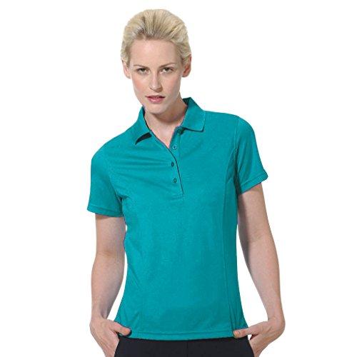 Monterey Club Dry Swing Lightweight Pique Solid Shirt #2070 (Dark Teal, Small)