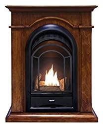 ProCom PCS100T Ventless Fireplace Insert with Walnut Mantel from Procom