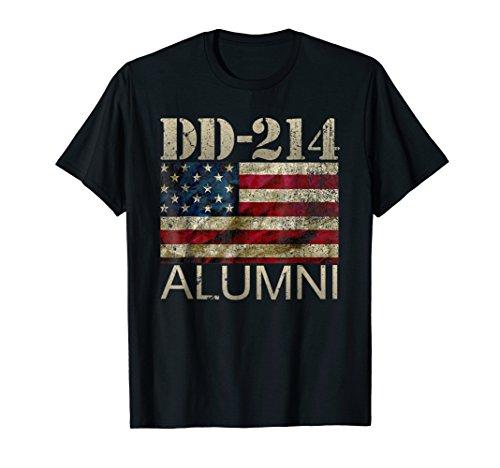 DD-214 Army Alumni Vintage American Flag T Shirt