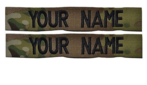 Custom Multicam / Scorpion / OCP Name Tape 2 piece set US Army USAF Sew On (Women Army Uniforms)
