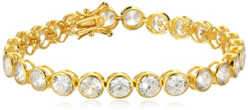 14k Yellow Gold Plated 925 Sterling Silver Bezel Set AAA ...