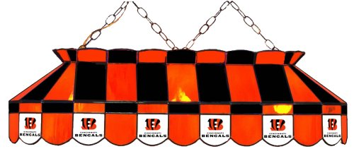 (Imperial Officially Licensed NFL Merchandise: Tiffany-Style Stained Glass Billiard/Pool Table Light, Cincinnati Bengals)