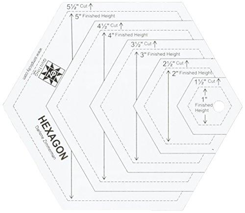 EZ Quilting Acryl-Nähvorlage Hexagon zuschneidbar: Amazon.de: Küche ...