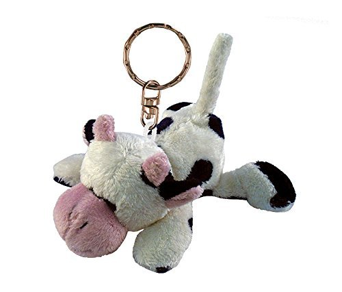 Puzzled Cow Plush Keychain (Keychain Plush)