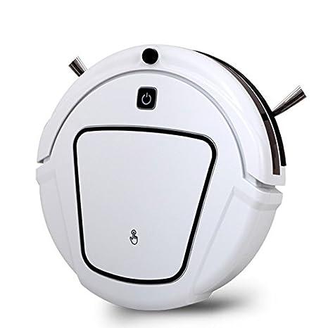 JJYJQR Robot Aspirador Robot Vacío Recargable Automático Seco Barato Limpiar Con Dos Cepillos Laterales, Horario De Limpieza De Borde, Blanco: Amazon.es: ...