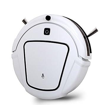 JJYJQR Robot Aspirador Robot Vacío Recargable Automático Seco Barato Limpiar Con Dos Cepillos Laterales, Calendario De Limpieza De Bordes, Negro: Amazon.es: ...