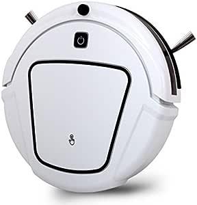 JJYJQR Robot Aspirador Robot Vacío Recargable Automático Seco Barato Limpiar Con Dos Cepillos Laterales, Horario De Limpieza De Borde, Blanco: Amazon.es: Hogar