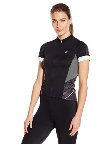 Shorts Short Sleeve Ride (Pearl Izumi - Ride Women's Elite Pursuit Short Sleeve Jersey, Black Stripe, Medium)