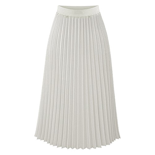 TEERFU Womens Ladies Summer Boho Flared Pleated Skirt