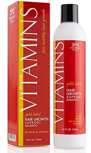 Sulfate Free Hair Growth Shampoo - Nourish Beaute Vitamins Hair Regrowth Shampoo with Biotin and Natural DHT Blockers for Thinning Hair and Hair Loss, Natural Hair Regrowth Treatment for Women & Men