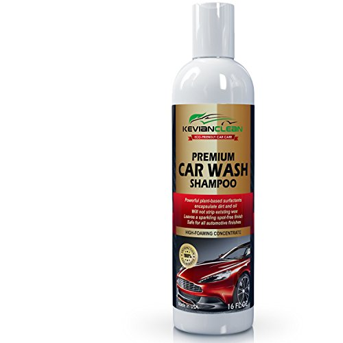 KevianClean Car Wash Shampoo Concentrate - Thick Foaming Automotive Detailing Soap Cleans Tough Dirt and Grime for a Spotless Deep Reflective Shine - 16 oz.