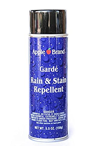 Apple Brand Garde Rain & Stain Water Repellent Conditioner, Cleaner Protector Aerosol 5.5 oz. (156 (Rain Repellant Spray)