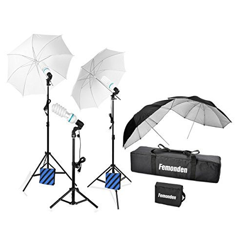 XISXI Photography Photo Portrait Studio 1575W Day Light Umbrella Lighting Kit