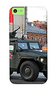 Exultantor Scratch-free Phone Case For Iphone 5c- Retail Packaging - April29th Rehearsal Of 2014 Victory Day Parade In Moscow Russia Red Star Russian Military Armytigrredflag Armored