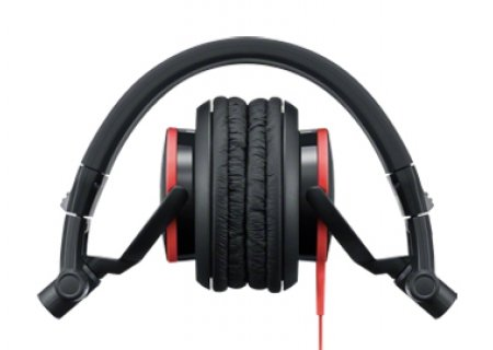 Sony DJ Style Closed Back Studio Monitor Headphones (Black/Red)