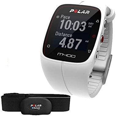 Polar M400 GPS Sports Watch and Activity Tracker with Heart Rate Monitor – White