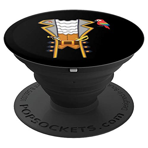 Pirate Halloween Costume Jacket Funny Parrot Men Boys PopSockets Grip and Stand for Phones and Tablets]()
