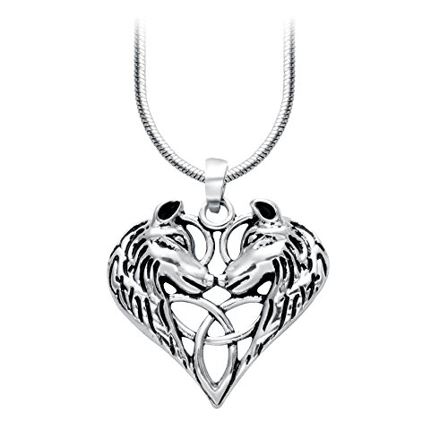SENFAI Face to Face Wolf Nature Woodland Inspirations Animal Pendant Fashion Necklace