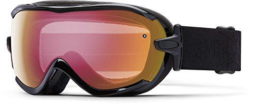 - Smith Optics Virtue Women's Spherical Series Ski Snowmobile Goggles Eyewear - Black Lux/Red Sensor Mirror/Small