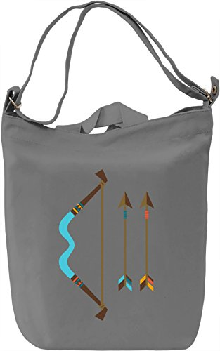 Indian bow Borsa Giornaliera Canvas Canvas Day Bag| 100% Premium Cotton Canvas| DTG Printing|