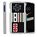 MINITURTLE Case Compatible w/LG Optimus Zone 3,LG Spree,LG K4,LG Rebel White Phone Case, Case Hard Protector Cool Designs - Game Controller
