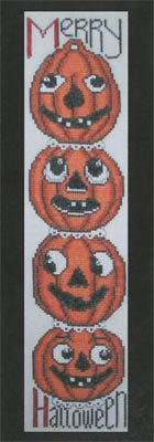(Stacked-Merry Halloween Cross Stitch Chart and)