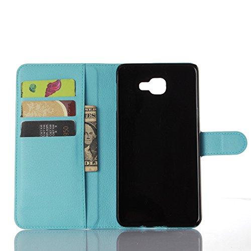 Funda Samsung Galaxy A9,Manyip Caja del teléfono del cuero,Protector de Pantalla de Slim Case Estilo Billetera con Ranuras para Tarjetas, Soporte Plegable, Cierre Magnético(JFC8-2) I