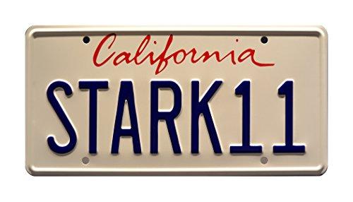 Iron Man 2 | Tony Stark's 2010 Audi R8 Spyder | STARK 11 | Metal Stamped Vanity Prop License ()