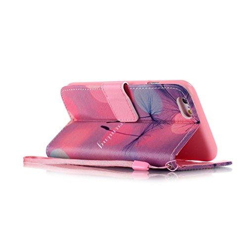 """iPhone 6S / iPhone 6 4.7"""" Coque , Apple iPhone 6S / Apple iPhone 6 4.7"""" Coque Lifetrut® [ pissenlits Dreaming ] [Wallet Fonction] [stand Feature] Magnetic snap Wallet Wallet Prime Flip Coque Etui pour"""