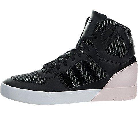 adidas Originals Women's Zestra w Fashion Sneaker, Black/Black/Halo Pink S, 5.5 M US