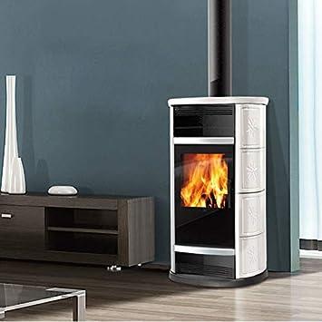 Estufa de leña BIG de aire 9 kW Edilkamin horno de aire caliente ...