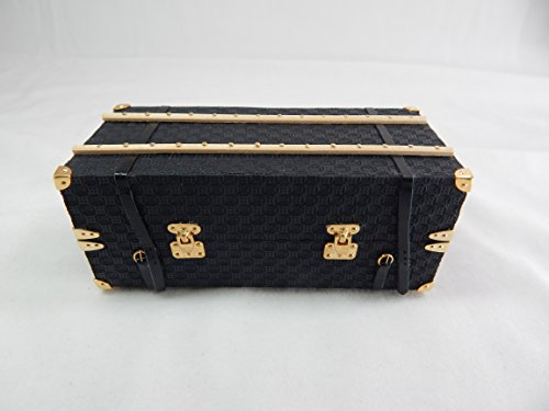 Heidi Ott Dollhouse Miniature 1:12 Scale Men's Travel Trunk Luggage #XZ12 by Heidi Ott
