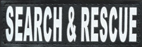 BarkOutfitters Search and Rescue Reflective Hook and Loop Patch, Small (4