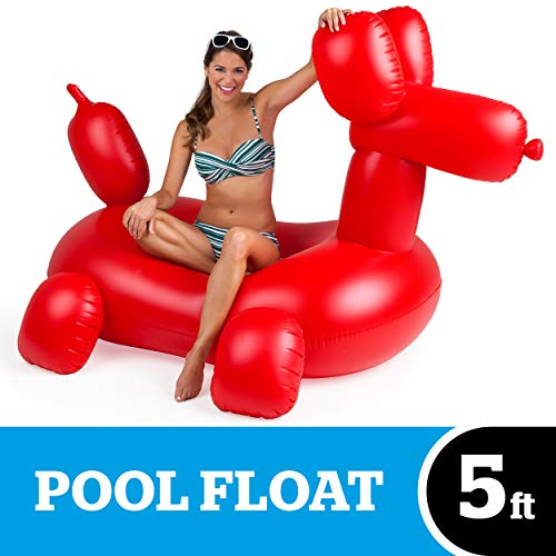 BigMouth Inc. Giant Balloon Animal Pool Float - Gigantic 5 Foot Pool Float, Funny Inflatable Vinyl Summer Pool or Beach Toy, Makes a Great Gift Idea, Patch Kit Included - Holds up to 200 lbs