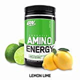 OPTIMUM NUTRITION ESSENTIAL AMINO ENERGY, Lemon Lime, Keto Friendly Preworkout and Essential Amino Acids with Green Tea and Green Coffee Extract, 30 Servings