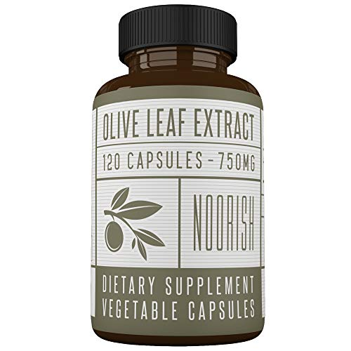 Olive Leaf Extract Capsules (Non-GMO) Super Strength: 20% Oleuropein - 750mg - Immune Support and Antioxidant Supplement (120 Capsules)
