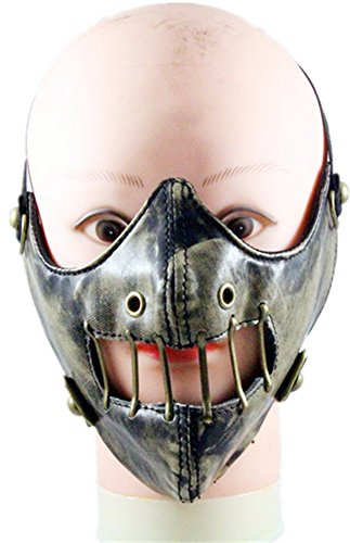 Qiu ping Men's and women's new punk fashion mask matte to do the old mask retro mask by Qiu ping
