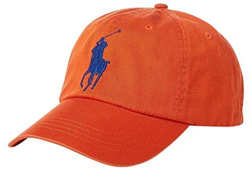 Polo Ralph Lauren Big Pony Athletic Twill/Chino Baseball Cap - College Orange