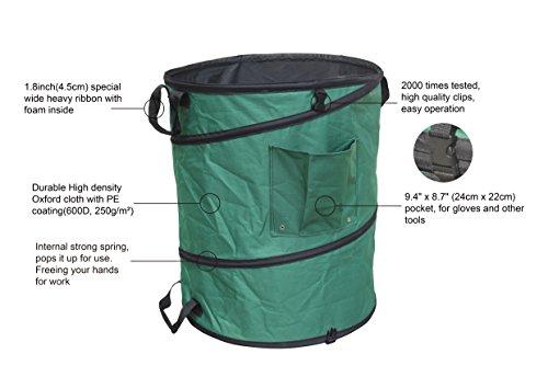 Gardzen 45 Gallon Pop Up Garden Bag With Extra 30 Gallon