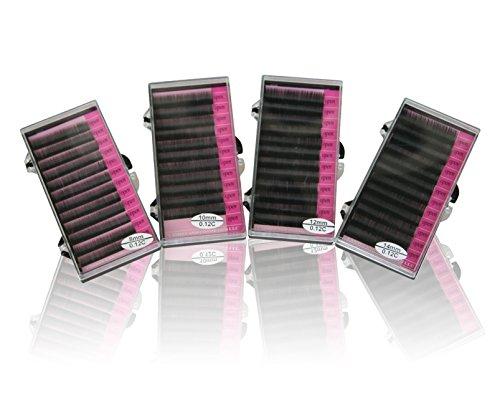 Mink Eyelash Trays Eyelash Extensions 8mm, 10mm, 12mm, 14mm 4 Trays Single (Eyelash Extension Lashes)
