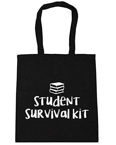 Student Shopping kit Black 10 litres HippoWarehouse 42cm Gym Beach x38cm Bag survival Tote qwCnSd