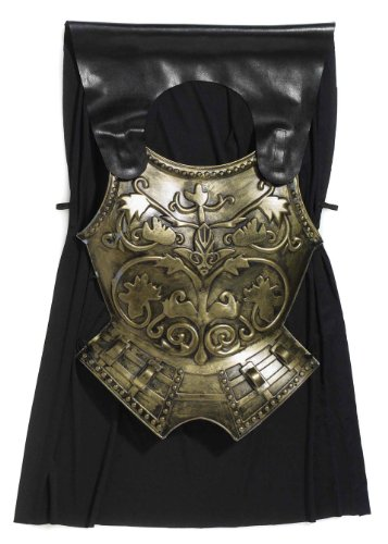 Forum Novelties Roman Costume Chest Armor with Cape, Bronze, One (Plastic Armor Costume)