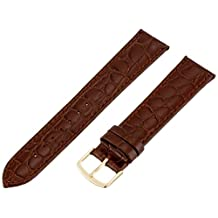 Hadley-Roma Men's MSM717LB 200 20mm Brown Crocodile Grained Leather Watch Strap