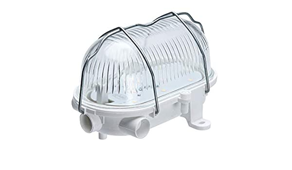 5W 4000K 580lm Oval 60 LED Lámpara de luz de mampara IP54 Jaula de ...