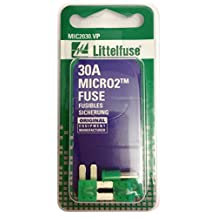 Littelfuse (MIC2030.VP) MICRO2 Green 32V 30 Amp Blade Fuse, (Pack of 5)
