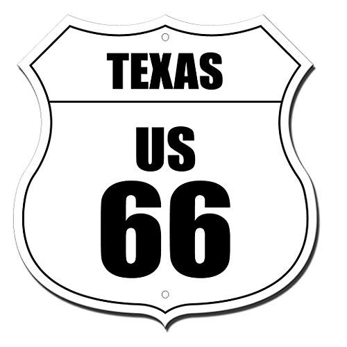 Texas Route 66 Highway Shield Flag Highway Shield Metal Sign