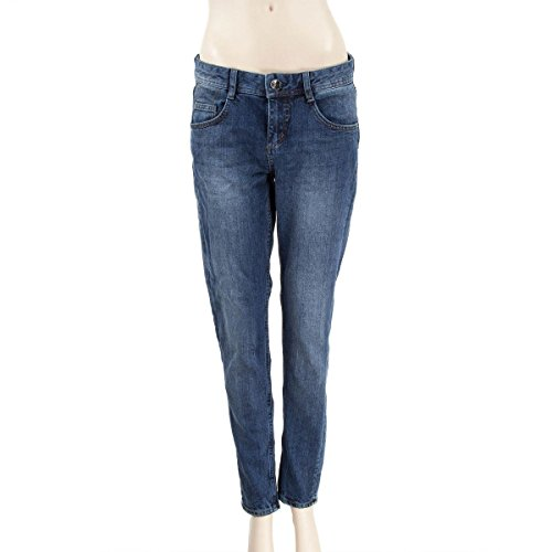 DDP Mom jeans stone coupe droite femme Bleu